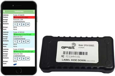 #1. GPSit1000BZL LTE Vehicle Tracker with One Year Service, No Monthly Fees - Nationwide Coverage