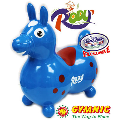 10. Gymnic Horse Inflatable Bouncer Exclusive Blue and Red
