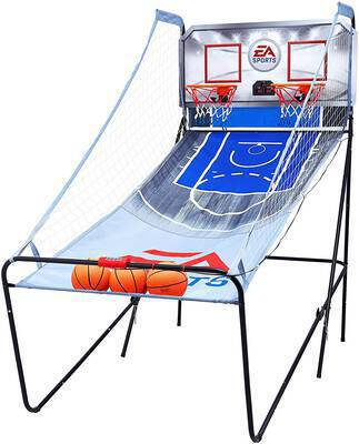 #1. MD EA Sports 1658127 8-in-1 2-Player Indoor Arcade Basketball Game w/Scoreboard