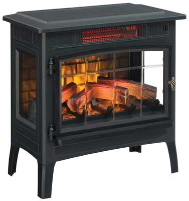 #7. Duraflame 3D Infrared Portable Space Electric Fireplace Stove DFI-5010 (Black)