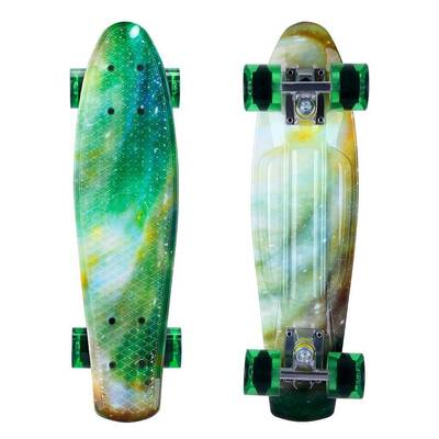 #10. ENKEEO 22'' Plastic Banana Board 220 lbs. Bendable Deck & Smooth PU Casters Skateboard for Kids