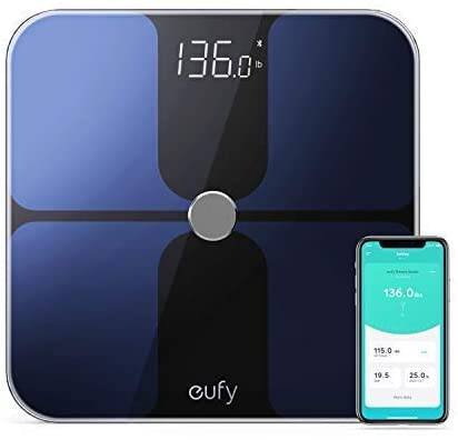 #1. eufy Smart Scale w/ Bluetooth, Black/White