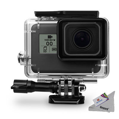 6. Deyard 45 M Waterproof Protective Case for GoPro with Mount &Thumbscrew