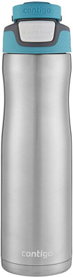 #10. Contigo Autoseal 24 oz. Chill Thermalock Carry Handle Stainless Steel Water Bottle – Scuba