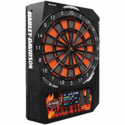 #2. Harley-Davidson 2 Sets 48 Games Allow Up to 8 Players Electronic Dartboard w/Dart & Extra Tips