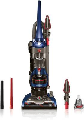 #6. Hoover UH71250 WindTunnel 2-House Rewind Corded Bagless Upright Vacuum Cleaner (Blue)