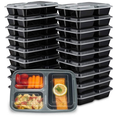 8. EZ Prepa 32oz Meal Prep Containers- Dishwasher Safe