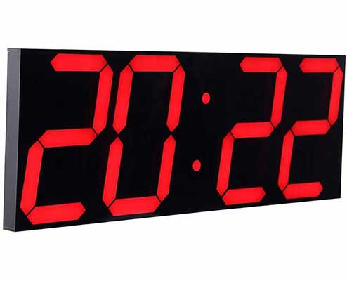 #3. CHKOSDA Multifunctional Remote Control Digital Led Wall Clock Large Calendar (Red)