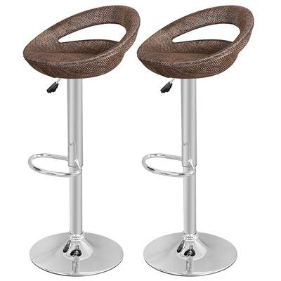 #2. Nova Microdermabrasion Pub Swivel Barstool, Set of 4