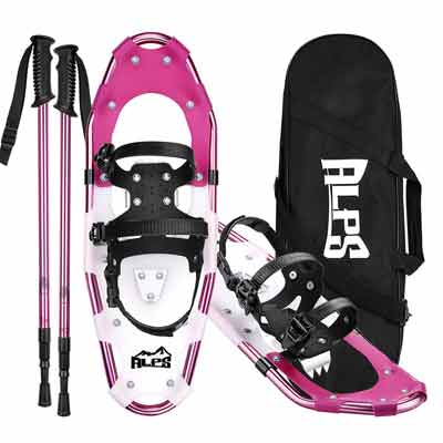 #10. ALPS Carrying Tote Lightweight Snow Shoes Set Trekking Poles for Women, Girls