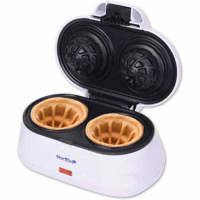 #4. StarBlue Double Waffle Bowl Maker