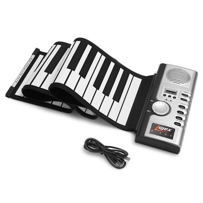 1. Lujex Foldable Electric Digital Keyboard Piano, Silver