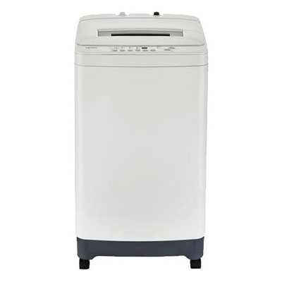 3. GE Haier HLPW028BXW Compact Washing Machine with Adjustable Leveling Legs