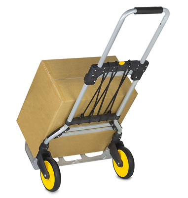 8. Mount-It! Hand Truck Portable and lightweight with Rubber Wheels