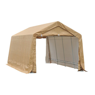 6. Outsunny Heavy Duty Vehicle Shelter- Beige