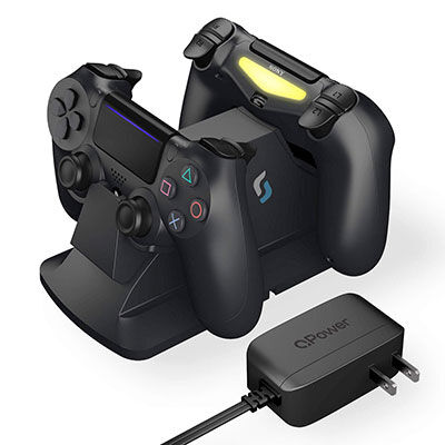 8. Sliq Gaming controller charging station with QPower AC adapter