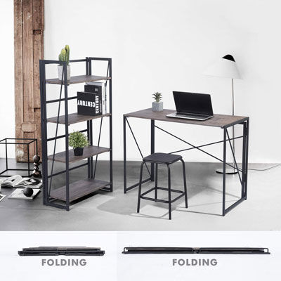 4. Coavas industrial folding computer desk