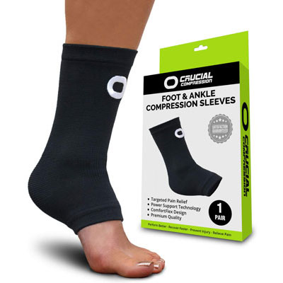 6. Crucial compression ankle socks