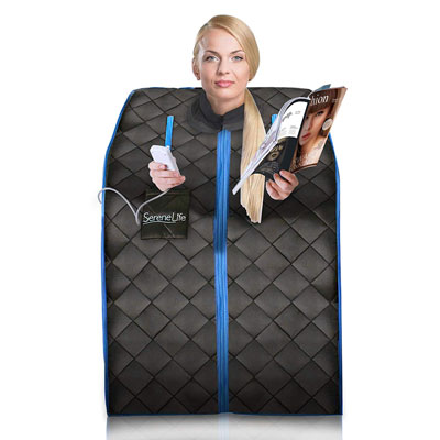 5. SereneLife Portable Infrared Sauna with a Portable Chair