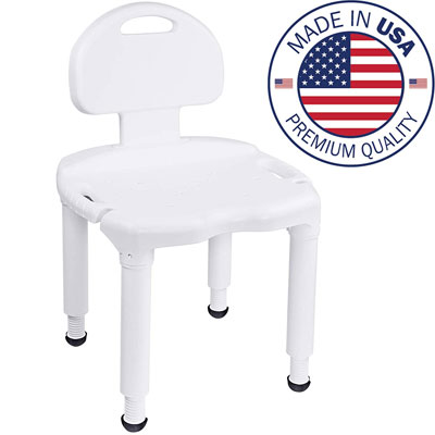 10. Vaunn Medical and Adjustable Shower Chair