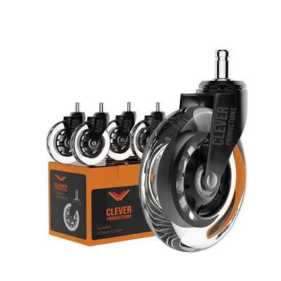 4. Clever Productions Caster Wheels for Office Chairs