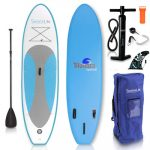 SereneLife Stand Up Paddle Board | Youth and Adult Standing Boat
