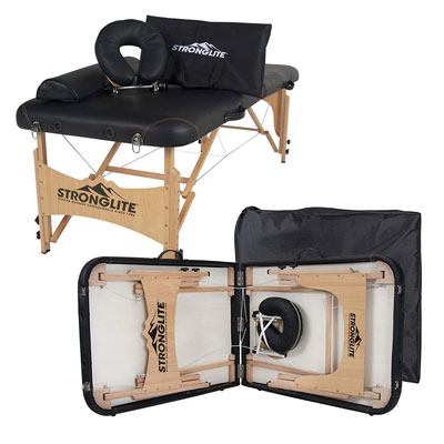 8. STRONGLITE Portable Massage Table with Double Knobs & Carry Case
