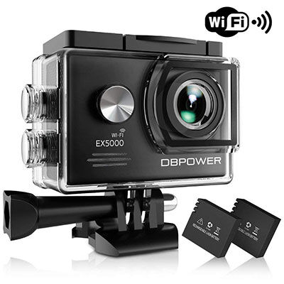 1. DBPOWER EX5000 Action Camera, 98ft Underwater Waterproof With 16 Accessories Kits