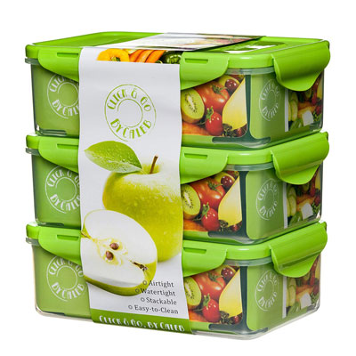 #3. Click & Go Bento Lunch Box Containers