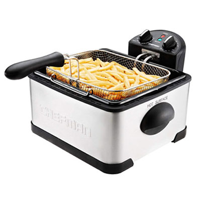 #4. Chefman 4 Liter Stainless Steel Electric Deep Fryer