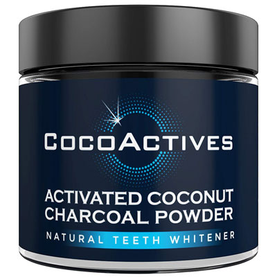 3. CocoActives Charcoal Natural Activated Teeth Whitening Powder