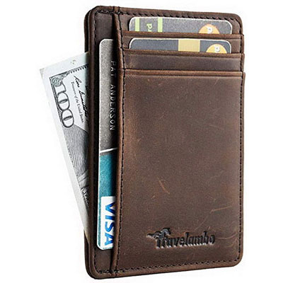 10. Travelambo Leather Wallet