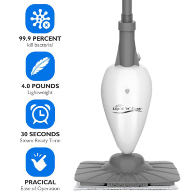 light and easy Steam Cleaner- White