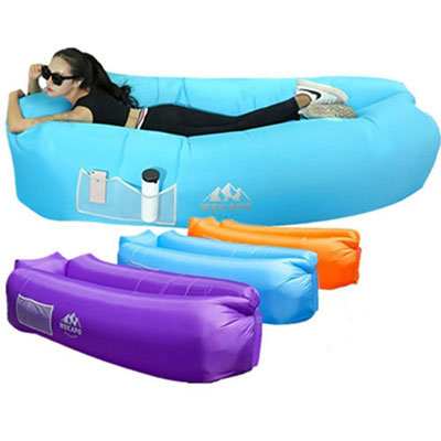 9. WEKAPO Inflatable Lounger Air Sofa, Water Proof, and Anti-Air Leaking