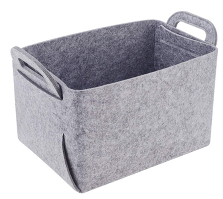 #10. Minoisome Felt Collapsible and Convenient Storage Basket