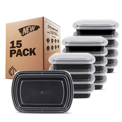 1. Freshware Meal Prep Containers | BPA Free (28 oz.)