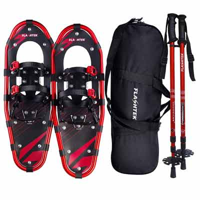 #3. FLASHTEK 21''/25''/30'' All Terrain Lightweight Aluminum Snow Shoes for Men & Women