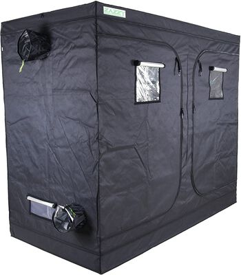 4. Zazzy Quality Sturdy Mylar Hydroponic Indoor Growing Tent with a Floor Tray and Kit Bag