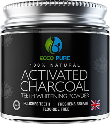1. ECCO PURE Activated Kits Charcoal Teeth Whitening Powder