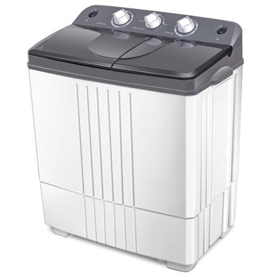 9. COSTWAY Portable Washing Machine, Rotary Controller & Washer Spin Dryer