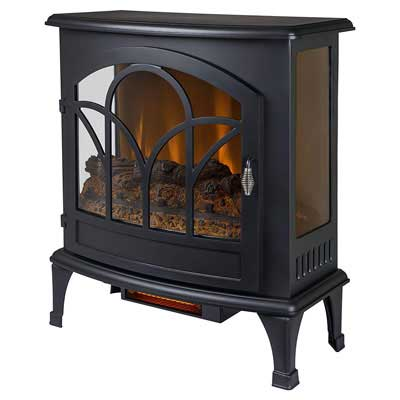 #6. Muskoka 25 inch Curved Front 1500W Infrared Panoramic Electric Stove (Black)