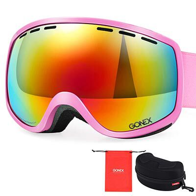 7. Gonex Kids Snowboard 100% UV Protection Goggles for Boys& Girls