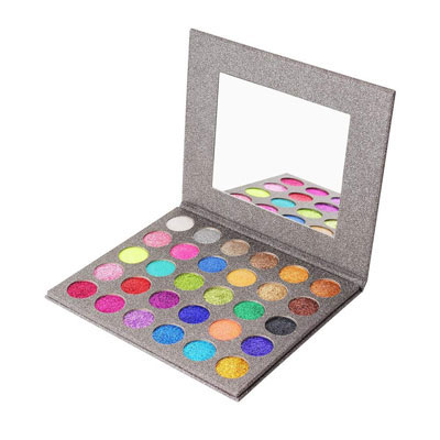 4. MISKOS Glitter Eyeshadow Pallet, Long-Lasting and Waterproof Makeup Kit