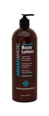 #10. Argan Magic 32 Ounce Jojoba Oil Shea Butter Non-Greasy & Fast-Absorbing Hydrating Body Lotion