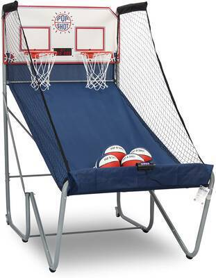 #4. Pop-A-Shot Durable Construction Near 100% Scoring Accuracy Dual Shot Basketball Arcade Game
