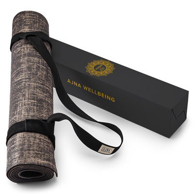 3. Natural Jute Yoga Mat Non-Toxic Eco-Friendly for All Types Yoga