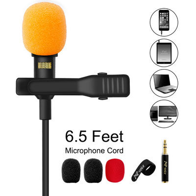 7. Pop voice upgraded lavalier Lapel microphone