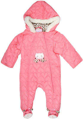 #9. Duck Duck Goose Quilted Pram Snowsuit for Newborn Boys & Girls