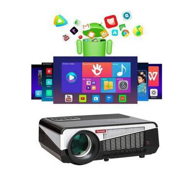 10. Gzunelic Android LED LCD Home Theater Projector with Bluetooth Wireless Mirror