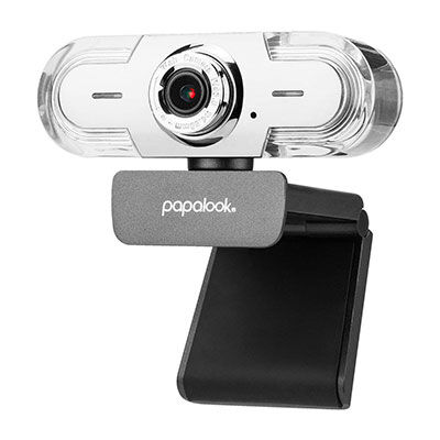 9. PAPALOOK 1080P HD with Built-in Mic Webcam